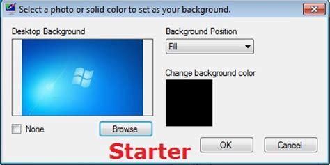 tutorial instal windows 7 starter computer tips and tricks change wallpaper in window 7
