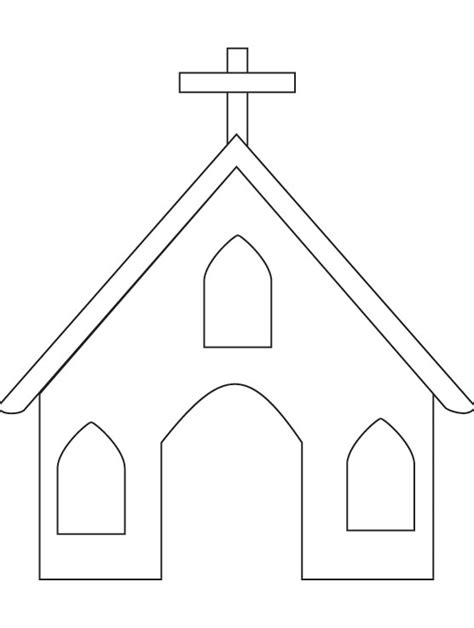 Imagenes De Una Iglesia Para Colorear | image gallery iglesia para dibujar