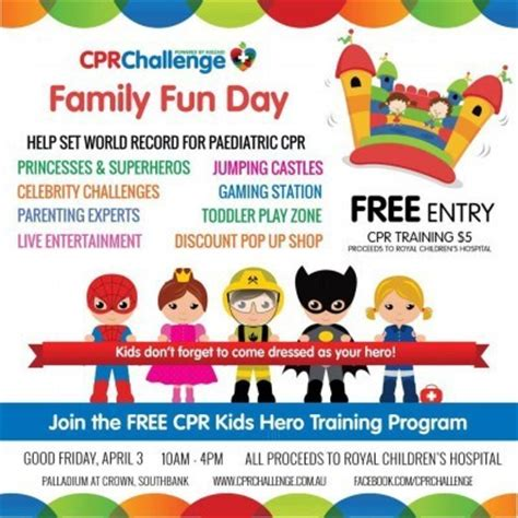 cpr challenge cpr challenge family day melbourne