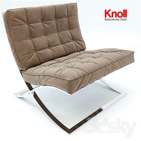 knoll barcelona couch 3d models arm chair barcelona chair knoll