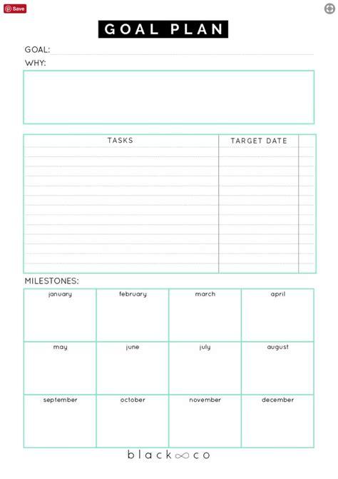 printable goal sheets popsugar australia smart living