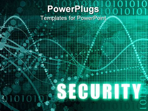 templates powerpoint security security online software as blue abstract art powerpoint