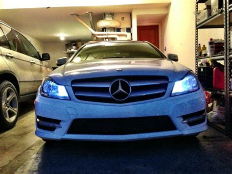 Headl Mercedes C 250 Hid 2012 250 coupe with hid and led parking light mbworld