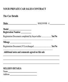 contract template for selling a car privately car sales contract and agreement template exles vlcpeque