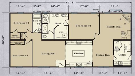 2000 Sq Ft Ranch House Plans | 30 ft wide house plans 30 ft wide house plans 30 ft wide