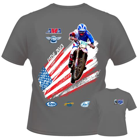 The A Team 04 T Shirt support the 2013 international six days enduro with a team