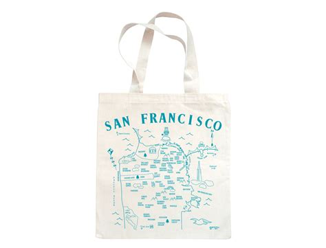 Sf Tote maptote san francisco grocery tote