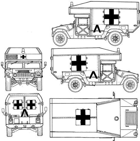 humvee blueprints car blueprints other m997 hmmwv maxi ambulance suv blueprint