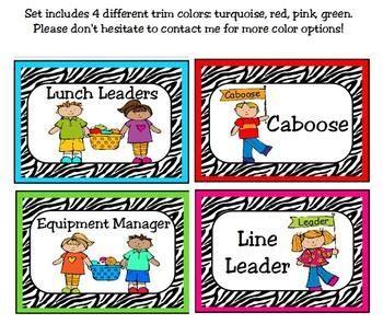 printable job cards for classroom 72 best images about zebra preschool on pinterest zebra
