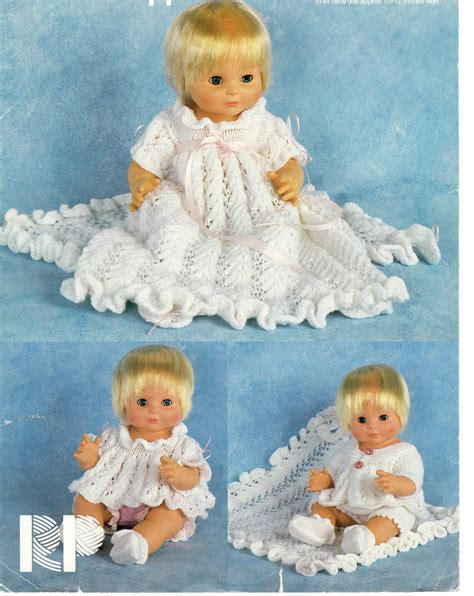 Babydoll Gt1807be Dk vintage doll clothes dk knitting pattern 99p ebay