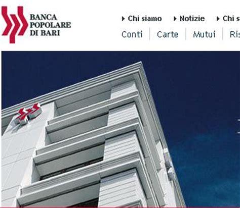 home banking popolare di bari popolare di bari e il suo conto