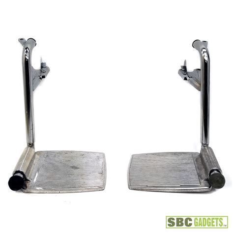 swing away chrome swing away footrests with aluminum footplates ebay