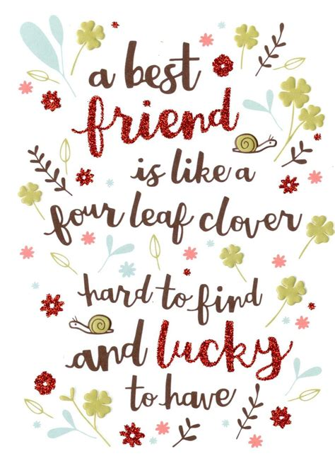 Birthday Cards For Friend Like best friend like four leaf clover birthday card cards