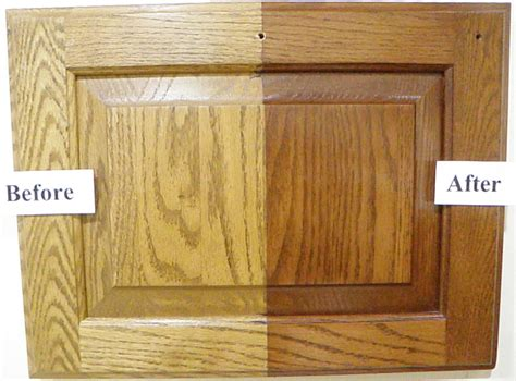 how to stain oak cabinets darker without sanding can you darken oak cabinets without refinishing ask home