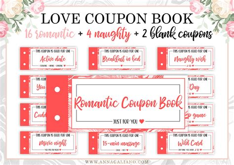 free custom printable love coupons love coupon book love coupons for him printable coupon book