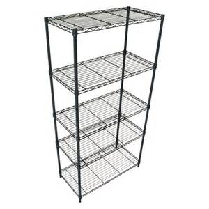5 tier wire shelving storage rack shelf unit garage