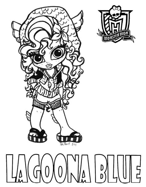 monster high names coloring pages baby lagoona by jadedragonne on deviantart