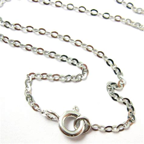 sterling silver chain for jewelry rhodium necklace chain rhodium plated 925 italian