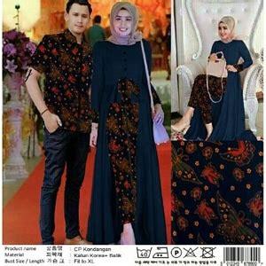 setelan baju long tunik  kemeja couple muslim motif