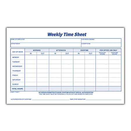 https templates office en us time card tm16400642 weekly time sheets 8 12 x 5 12 white 100 sheets per