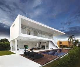 Modern Design House Two Storey Contemporary Home In Colombia