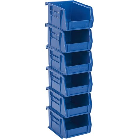 organization bins quantum heavy duty storage bins 6 pk blue northern