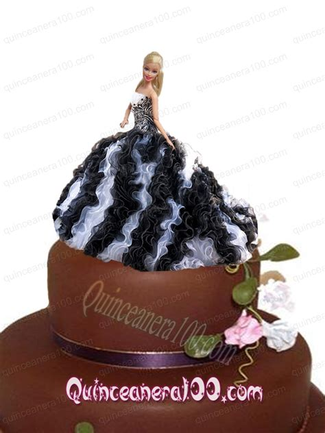 black quinceanera doll white and black quinceanera dress for doll with