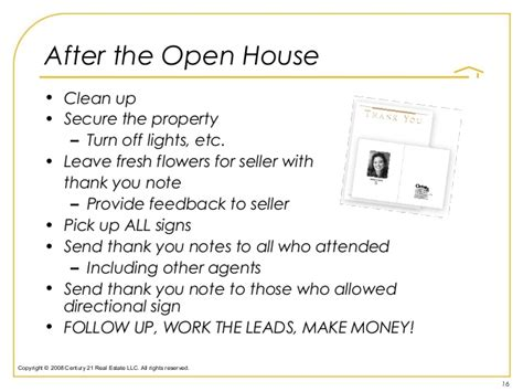 real estate open house thank you letter how to havea open house by design not by accident