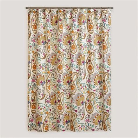 paisley shower curtain paisley floral shower curtain dream home pinterest