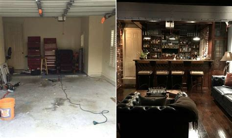 2 Car Garage Design houston man rehabs his garage to create an epic man cave
