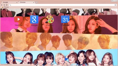 kpop theme exo kpop twice bts blackpink and exo chrome theme themebeta