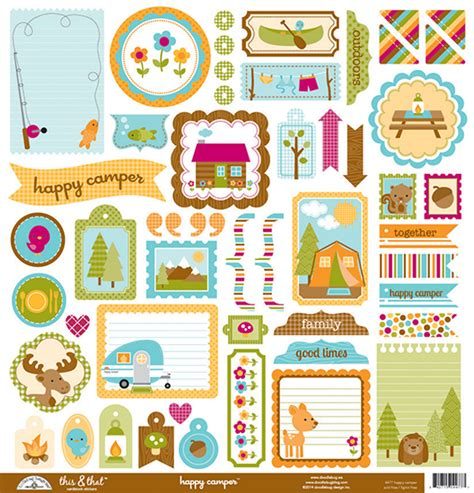 doodlebug stickers doodlebug design happy cer collection 12 x 12