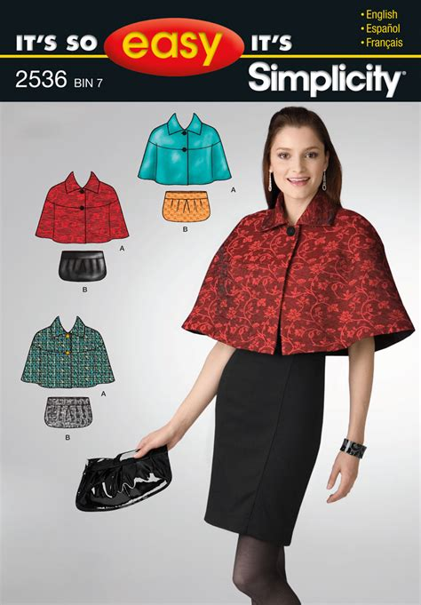 sewing pattern review best of 2013 simplicity 2536 misses capelet bag