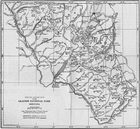 printable map glacier national park glacier park montana map bnhspine com