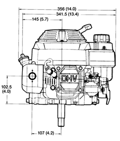 small engine suppliers engine specifications   drawings  honda small engines