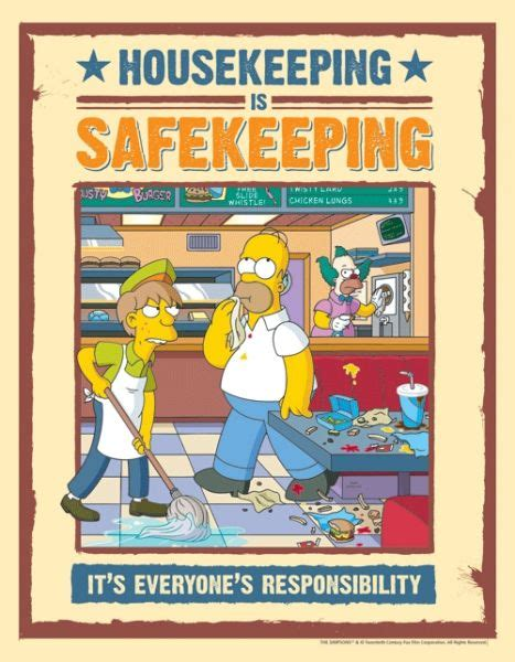 raise awareness of housekeeping as a cause of work place accidents with this safety poster