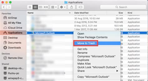 how to uninstall outlook on mac uninstall microsoft outlook 2016 for mac without trouble