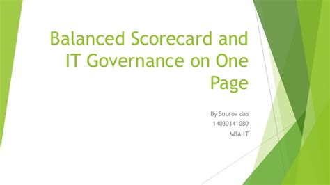 Mba Corporate Governance Notes by It Governance And Bal