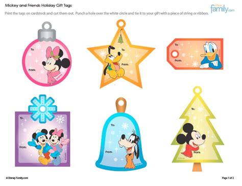 disney holiday gift tags unique or interesting free printable gift tag roundup