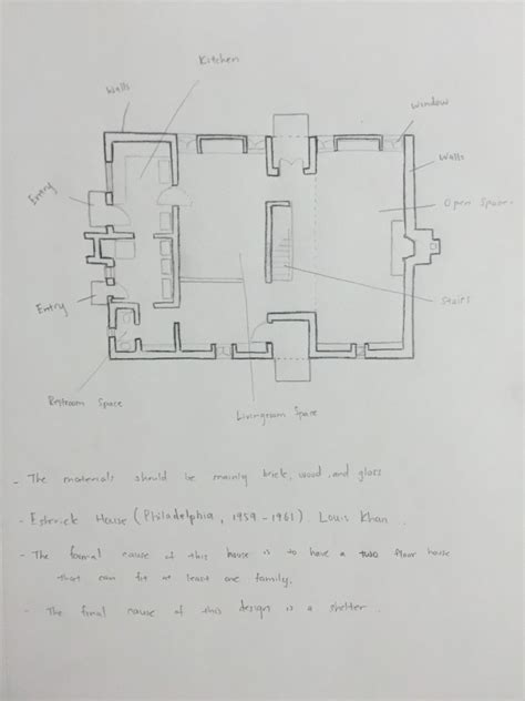 esherick house floor plan shi long yang s sketchbook just another city tech