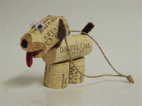 how to make a dog cork ornament cork pup craft ideas