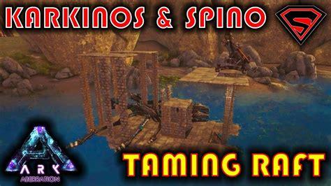 ark boat taming pen karkinos taming raft how to build karkinos taming pen on