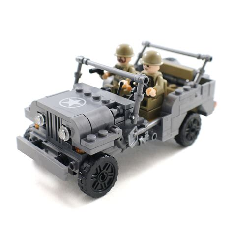 lego army jeep ww2 us army jeep with soldier minifigures and 50 similar