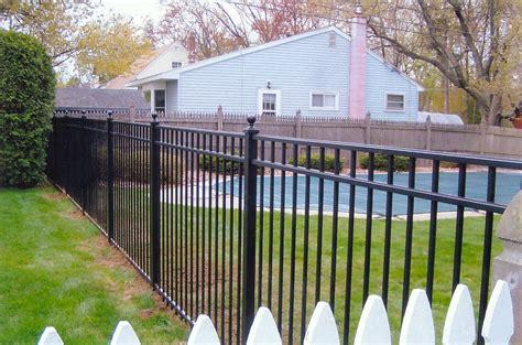 backyard fence company ornamental aluminum fence backyard fence company