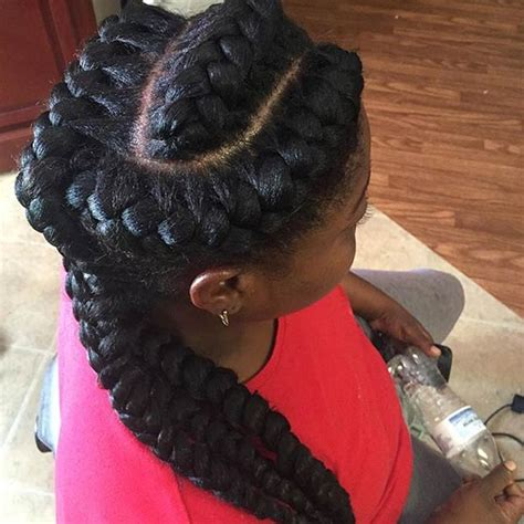 goddess braids hairstyles for black women 2 braids fishtail braid hairstyles for black women