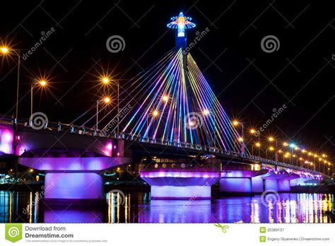 songs for light shows light show at song han bridge stock image image 25389137