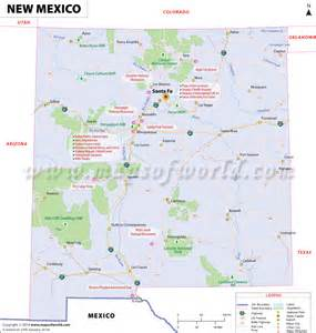 new mexico map map of new mexico nm