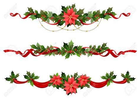 christmas flowers border clipart 94