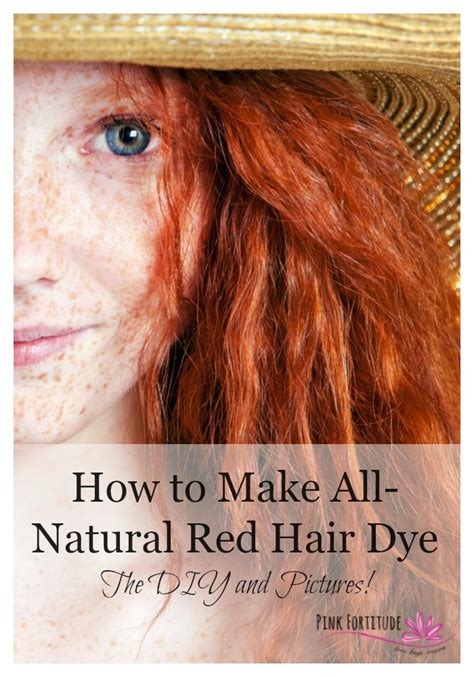 how to make all natural red hair dye the diy and