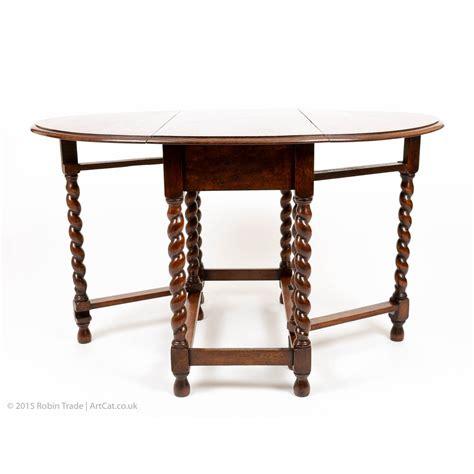 drop leaf breakfast table oak drop leaf barley twist small breakfast or side table